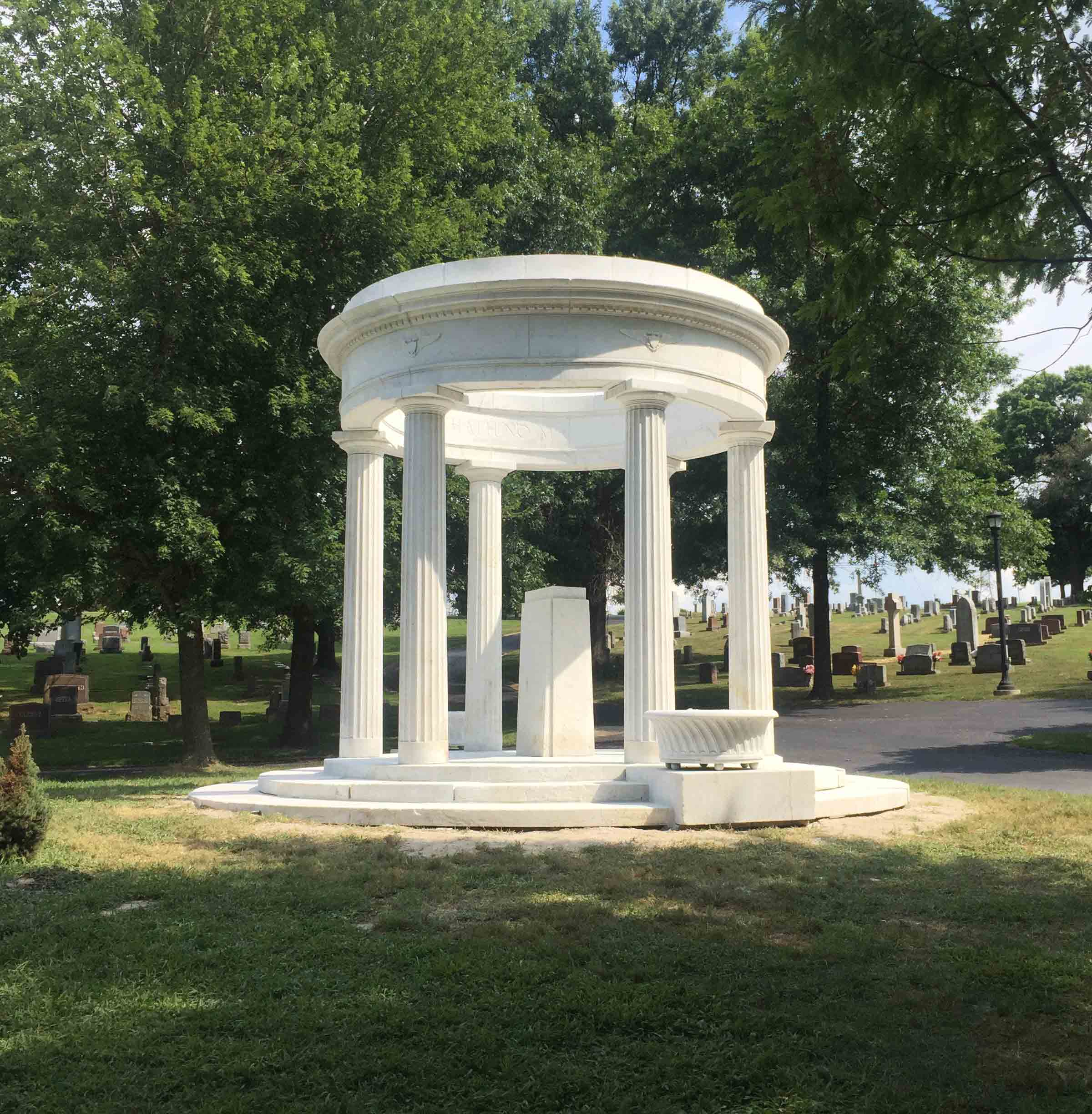 After - Marble Gazebo